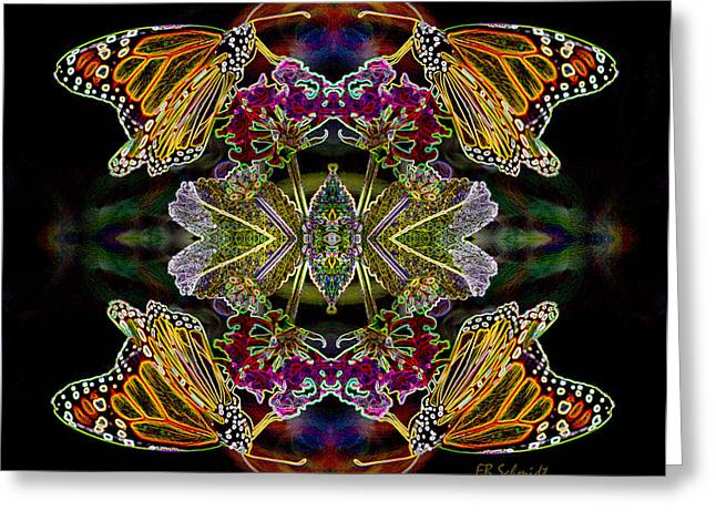 Butterfly Reflections 02 - Monarch Greeting Card