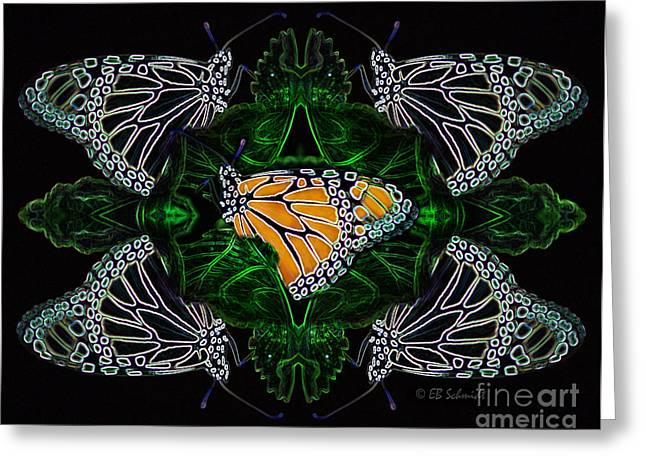 Butterfly Reflections 07 - Monarch Greeting Card