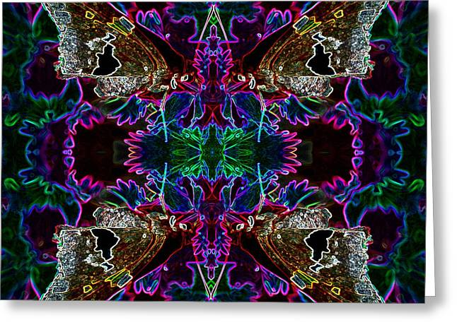 Greeting Card featuring the digital art Butterfly Reflections 09 - Silver Spotted Skipper Reflections by E B Schmidt