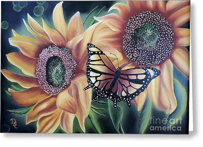Greeting Card featuring the painting Butterfly Series 5 by Dianna Lewis