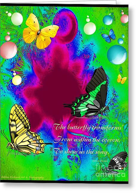 Butterfly Shows The Way Greeting Card
