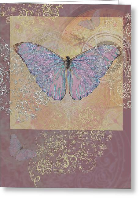 Butterfly Somewhere Greeting Card by Alixandra Mullins