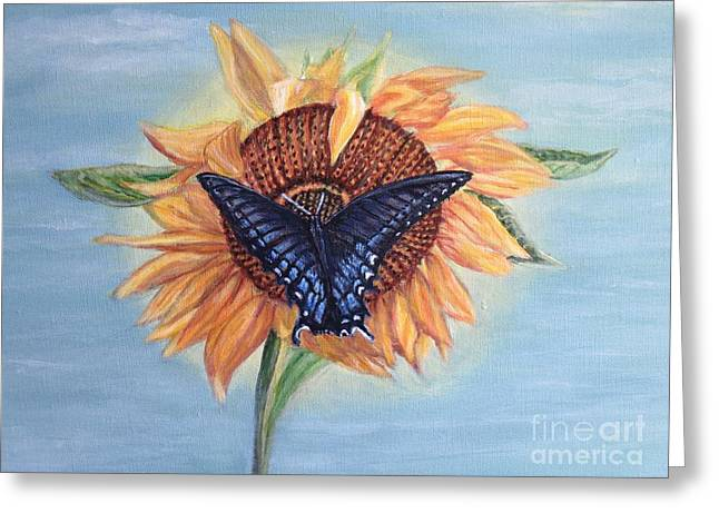 Butterfly Sunday In The Summer Greeting Card