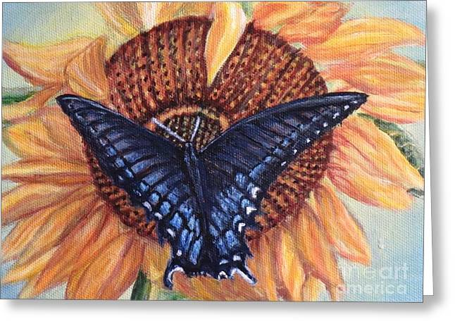 Butterfly Sunday Up-close Greeting Card