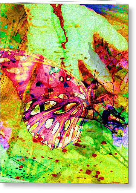 Butterfly That Was A Muscian Greeting Card