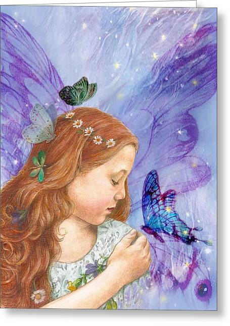 Butterfly Twinkling Fairy Greeting Card