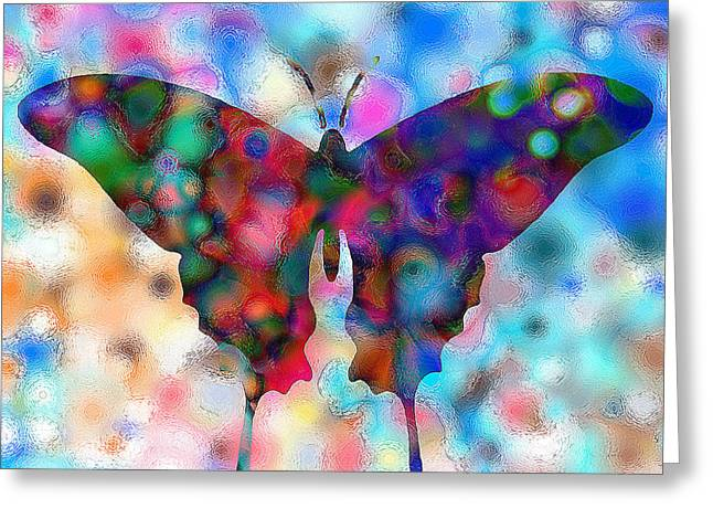 Butterfly Watercolor Print By Rr Greeting Card