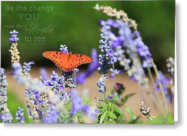 Butterfly With Message Greeting Card
