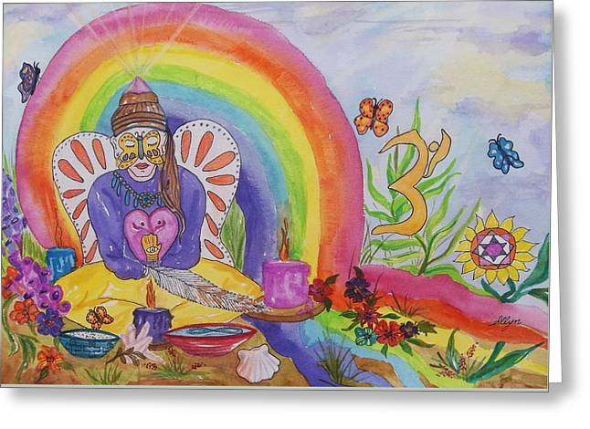 Butterfly Woman Healer I Am Greeting Card by Ellen Levinson