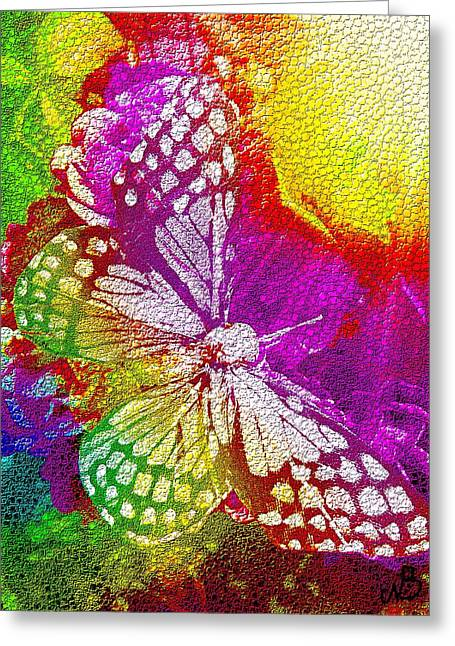 Butterfly World 2 Greeting Card by Nico Bielow
