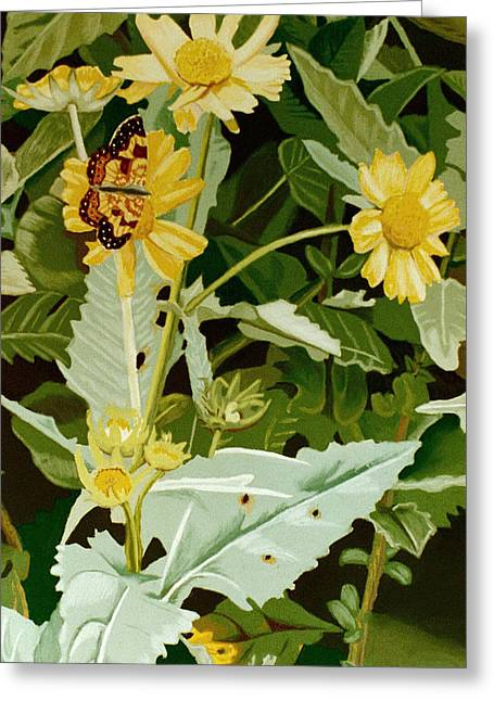 Butterfly Yellow  Greeting Card by Tanya Provines