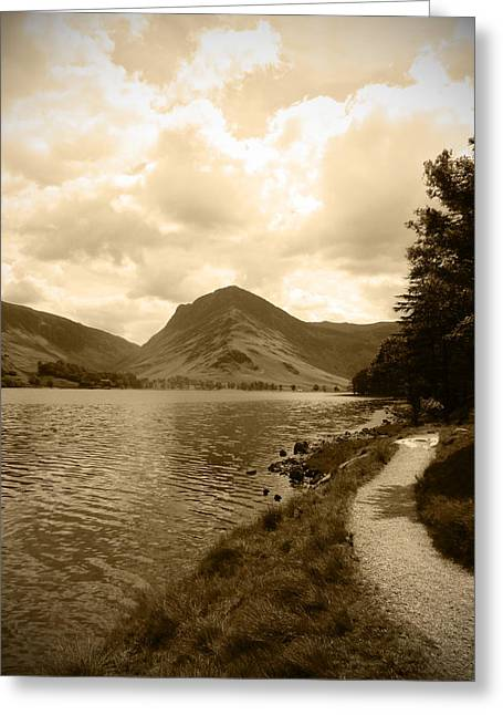 Buttermere Bright Sky Greeting Card by Kathy Spall