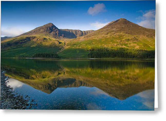 Buttermere Reflection Lake District Greeting Card by David Ross