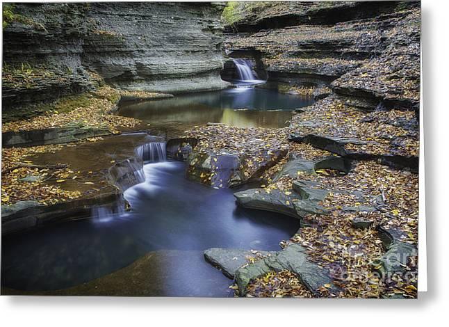 Buttermilk Falls In Autumn II Greeting Card by Michele Steffey