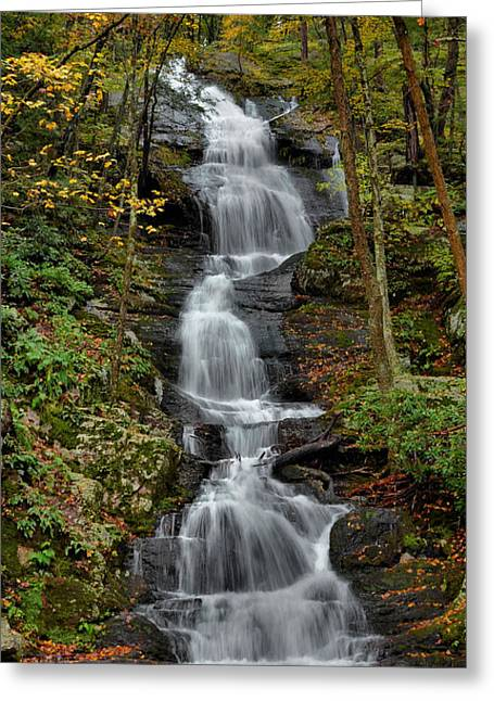 Buttermilk Falls In Autumn Greeting Card by Stephen  Vecchiotti