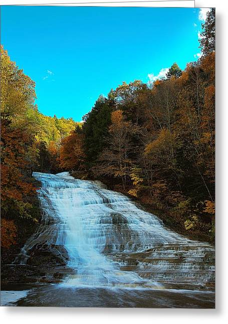 Buttermilk Falls Ithaca New York Greeting Card by Paul Ge