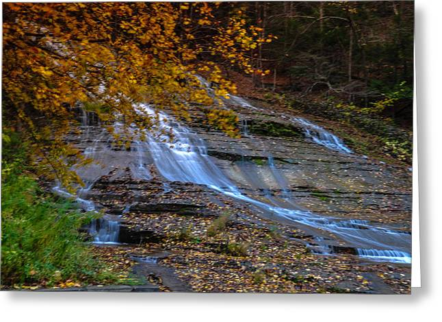 Buttermilk Falls Greeting Card by Karen Regan