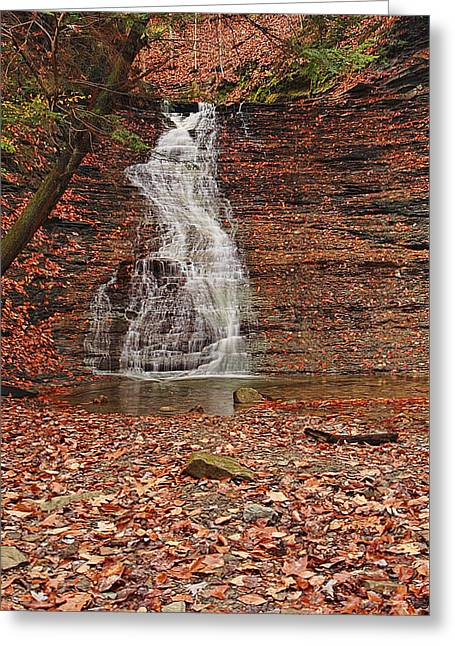 Buttermilk Falls Greeting Card by Marcia Colelli