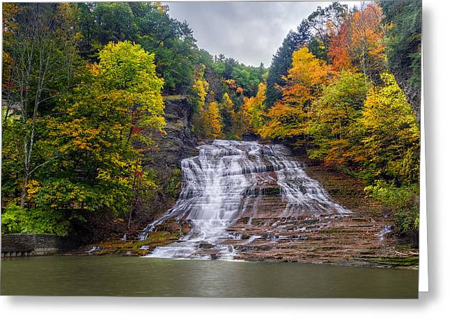 Buttermilk Falls Greeting Card by Mark Papke