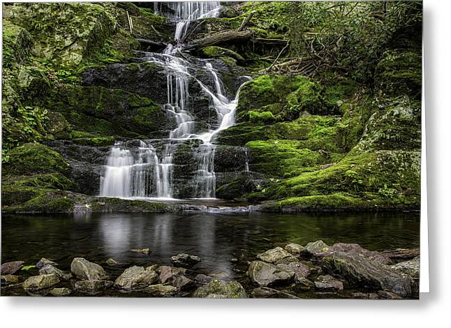 Buttermilk Falls Greeting Card by Sara Hudock