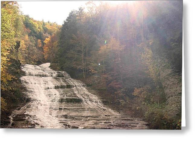 Buttermilk Falls State Park Greeting Card by Silvana Marmango