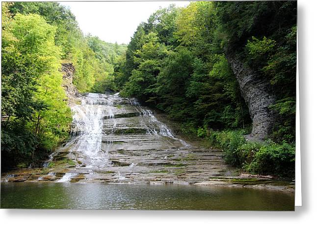 Buttermilk Falls Greeting Card by Trina  Ansel