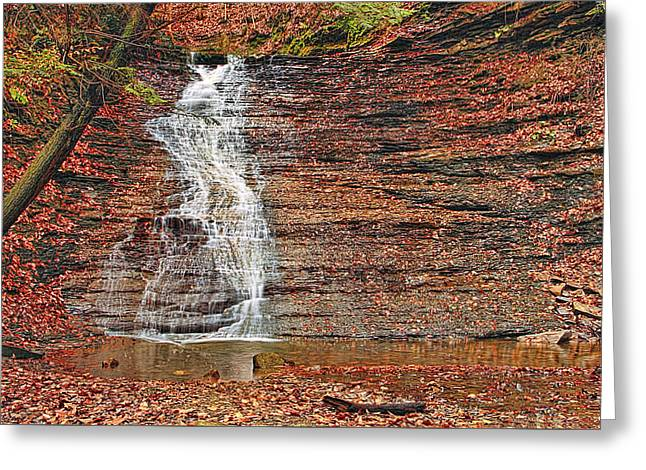 Buttermilk Waterfall Greeting Card by Marcia Colelli
