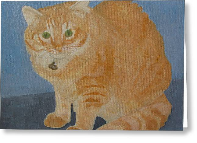 Butterscotch The Cat Greeting Card