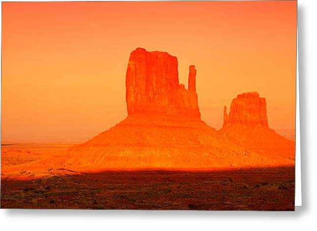 Buttes At Sunrise, The Mittens Greeting Card