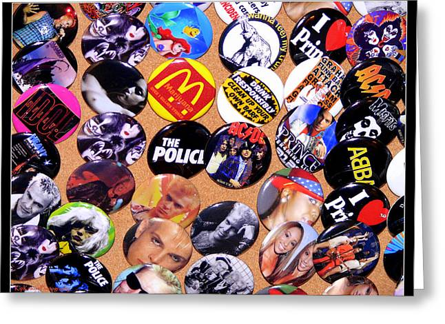 Button Crazy Greeting Card by Kip Krause