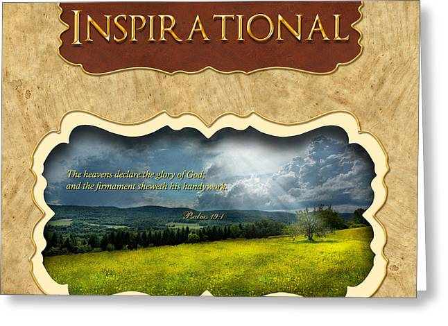 Button - Inspirational Greeting Card by Mike Savad