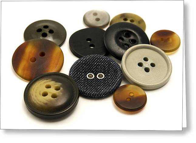Buttons Greeting Card by Fabrizio Troiani