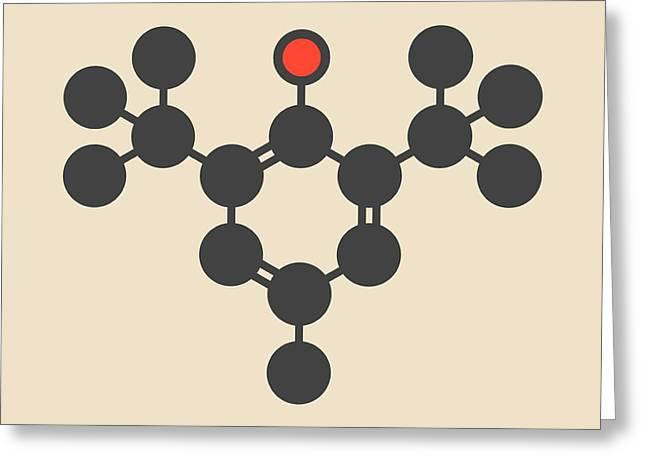 Butylated Hydroxytoluene Molecule Greeting Card by Molekuul