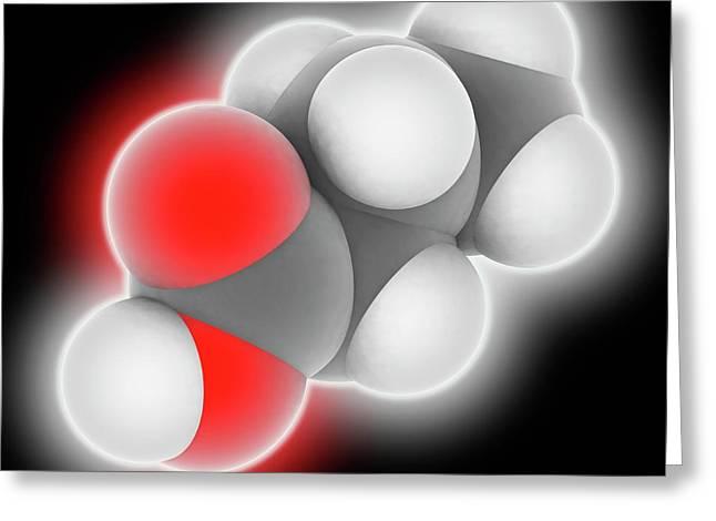 Butyric Acid Molecule Greeting Card by Laguna Design