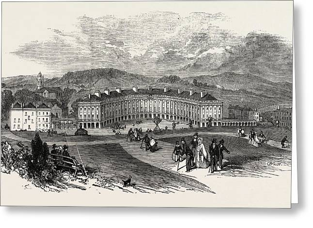 Buxton, The Crescent, New Baths Greeting Card by English School