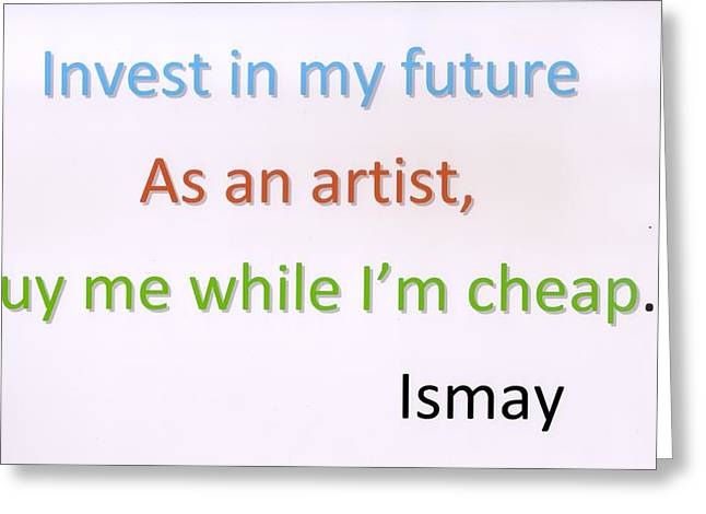 Buy Me While I'm Cheap. Greeting Card by Rod Ismay