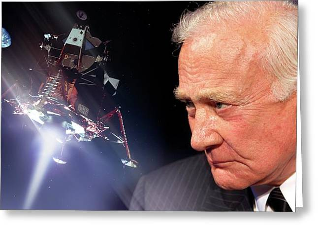Buzz Aldrin Greeting Card by Detlev Van Ravenswaay