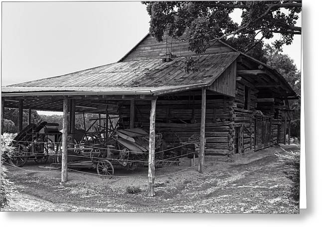 bw Antique Barn Greeting Card by Chris Flees