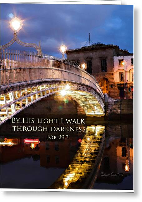 By His Light I Walk Greeting Card