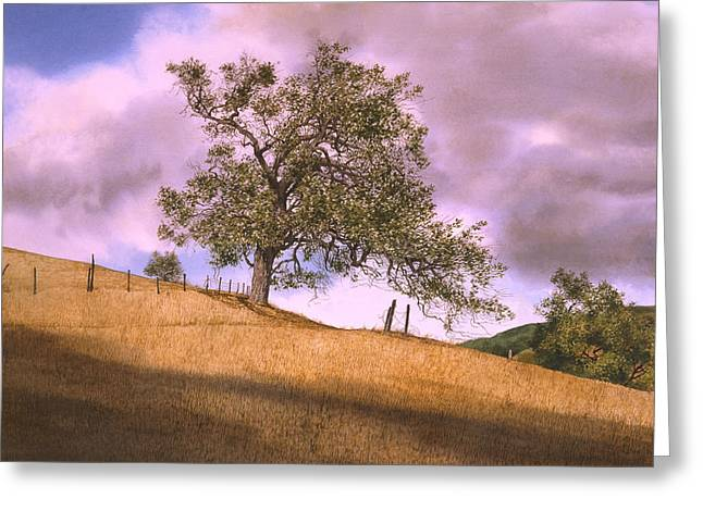 By The Big Oak Greeting Card