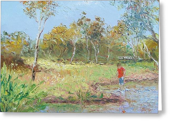 By The Creek Greeting Card by Jan Matson