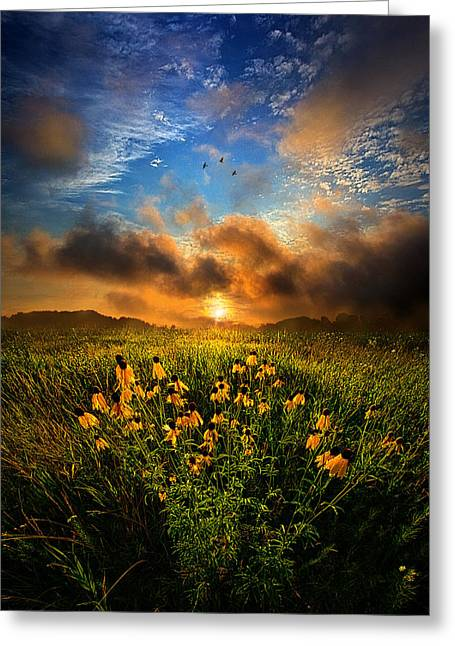 By The Dawns Early Light Greeting Card by Phil Koch