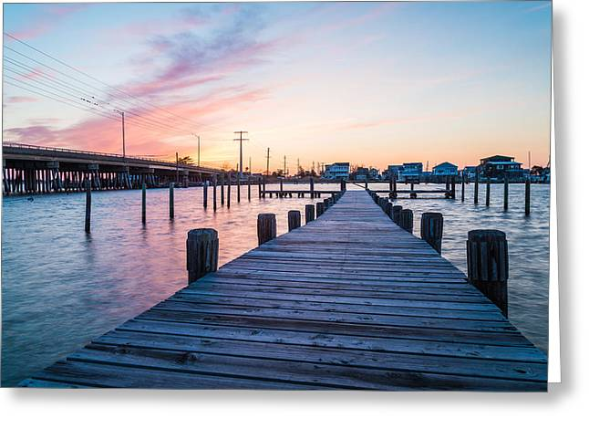 By The Dock Greeting Card by Kristopher Schoenleber
