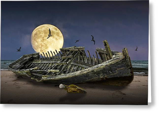 By The Light Of The Moon Greeting Card by Randall Nyhof