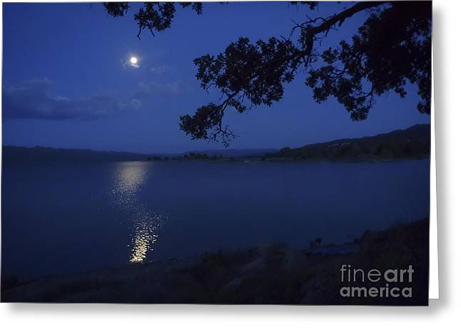 By The Light Of The Silvery Moon Greeting Card