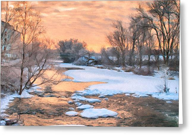 Greeting Card featuring the photograph By The Old Mill by Garvin Hunter