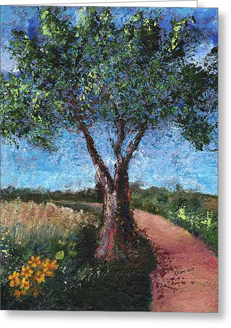 By The Path Greeting Card
