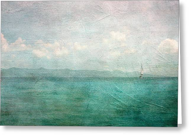 By The Sea Greeting Card by Heather Green