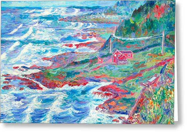 By The Sea Greeting Card by Kendall Kessler