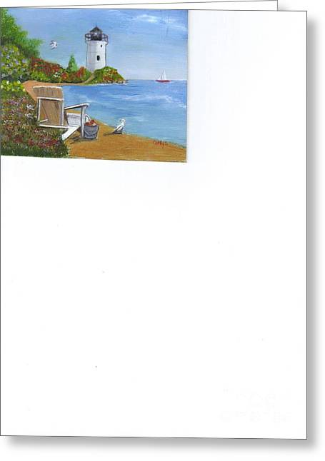 By The Shore Greeting Card by Catherine Swerediuk